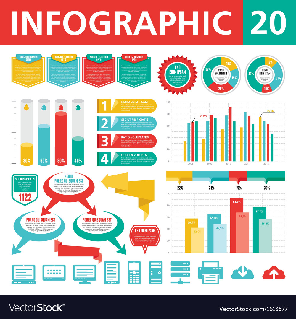 Infographic elements 20 vector | Price: 1 Credit (USD $1)