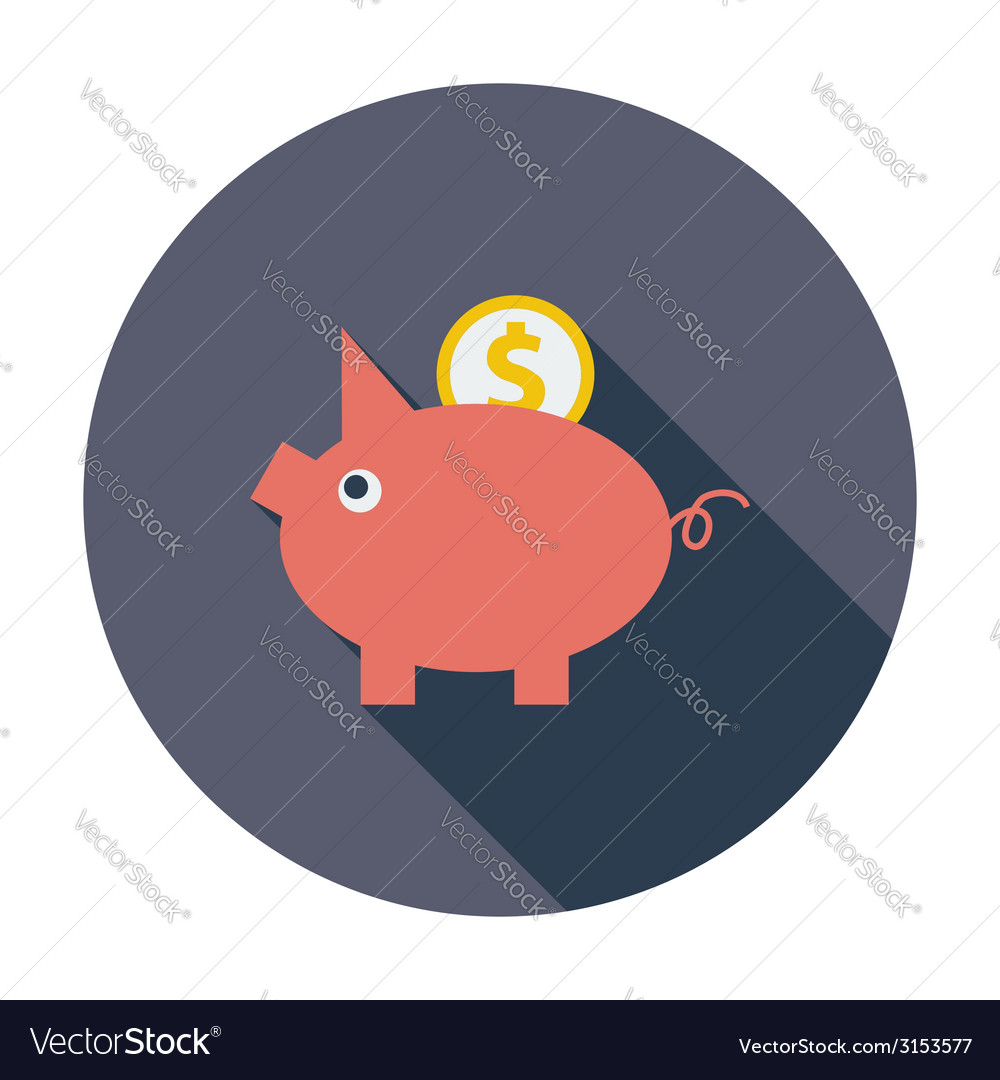 Piggy bank icon vector | Price: 1 Credit (USD $1)