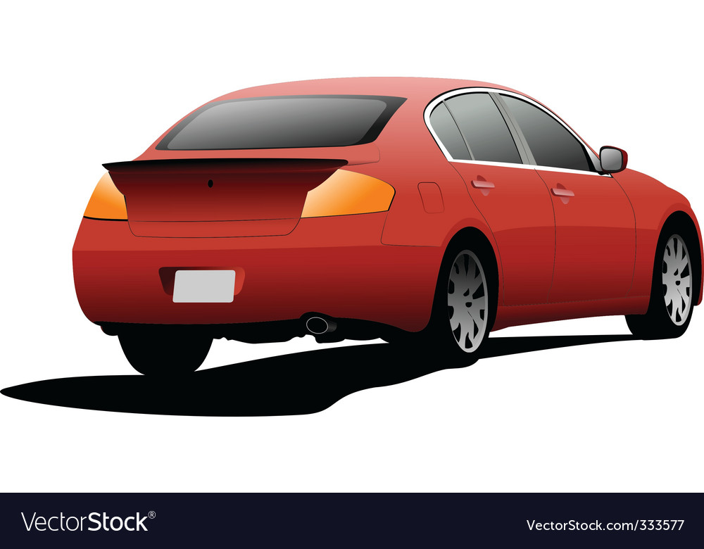 Red sedan vector | Price: 1 Credit (USD $1)