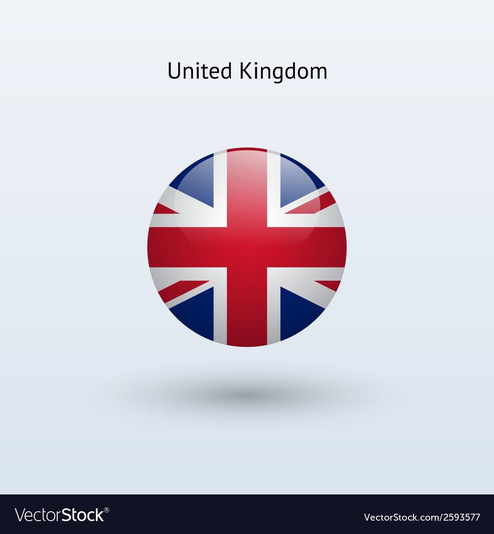 United kingdom round flag vector   Price: 1 Credit (USD $1)