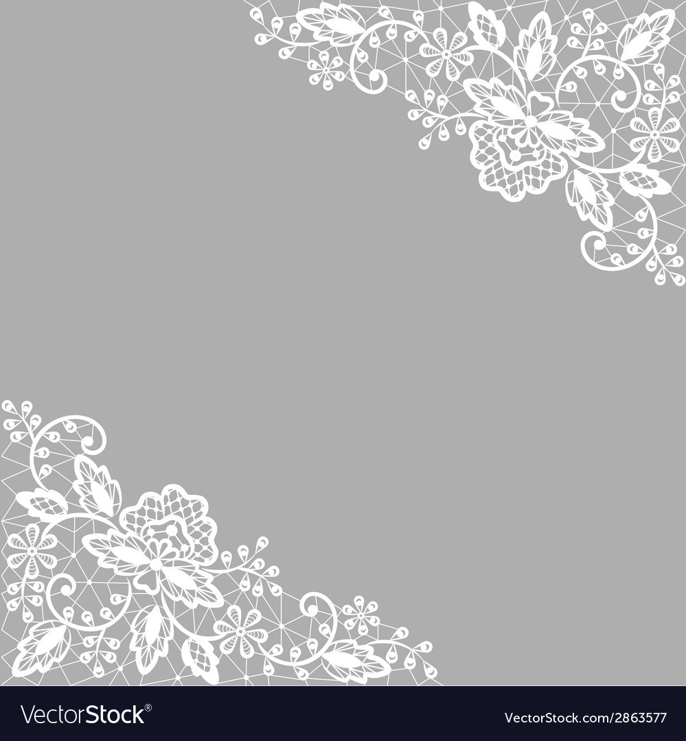 White lace on gray background vector | Price: 1 Credit (USD $1)