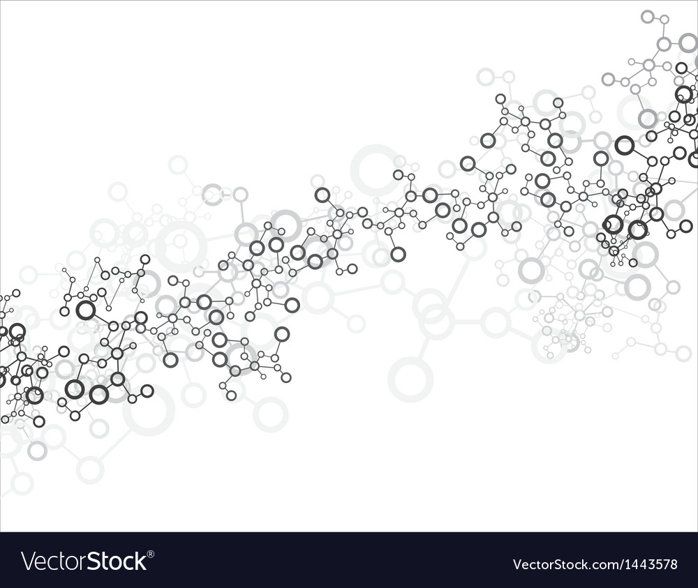Abstract molecular stucture background vector | Price: 1 Credit (USD $1)