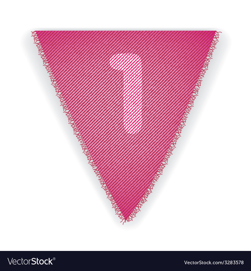 Bunting flag number 1 vector | Price: 1 Credit (USD $1)