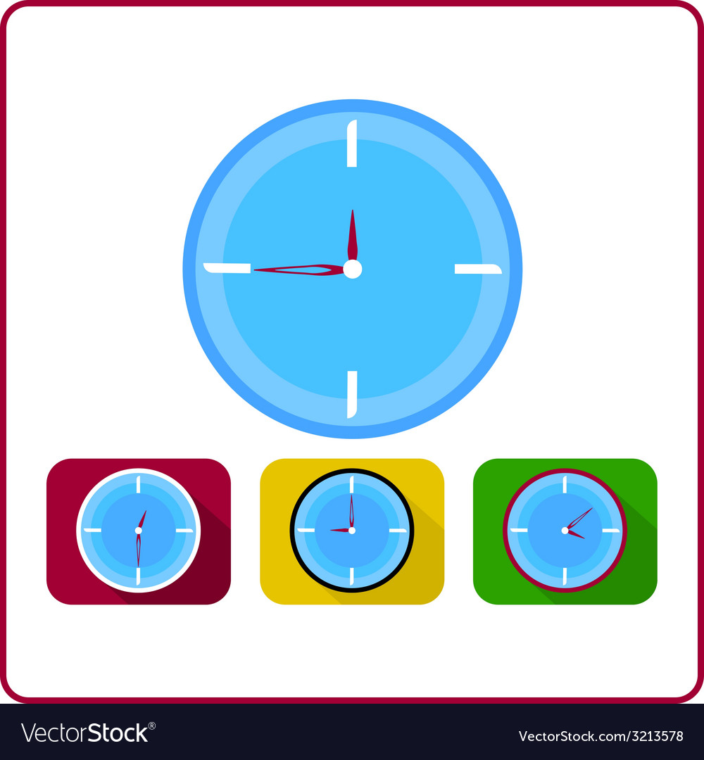 Clock set vector | Price: 1 Credit (USD $1)
