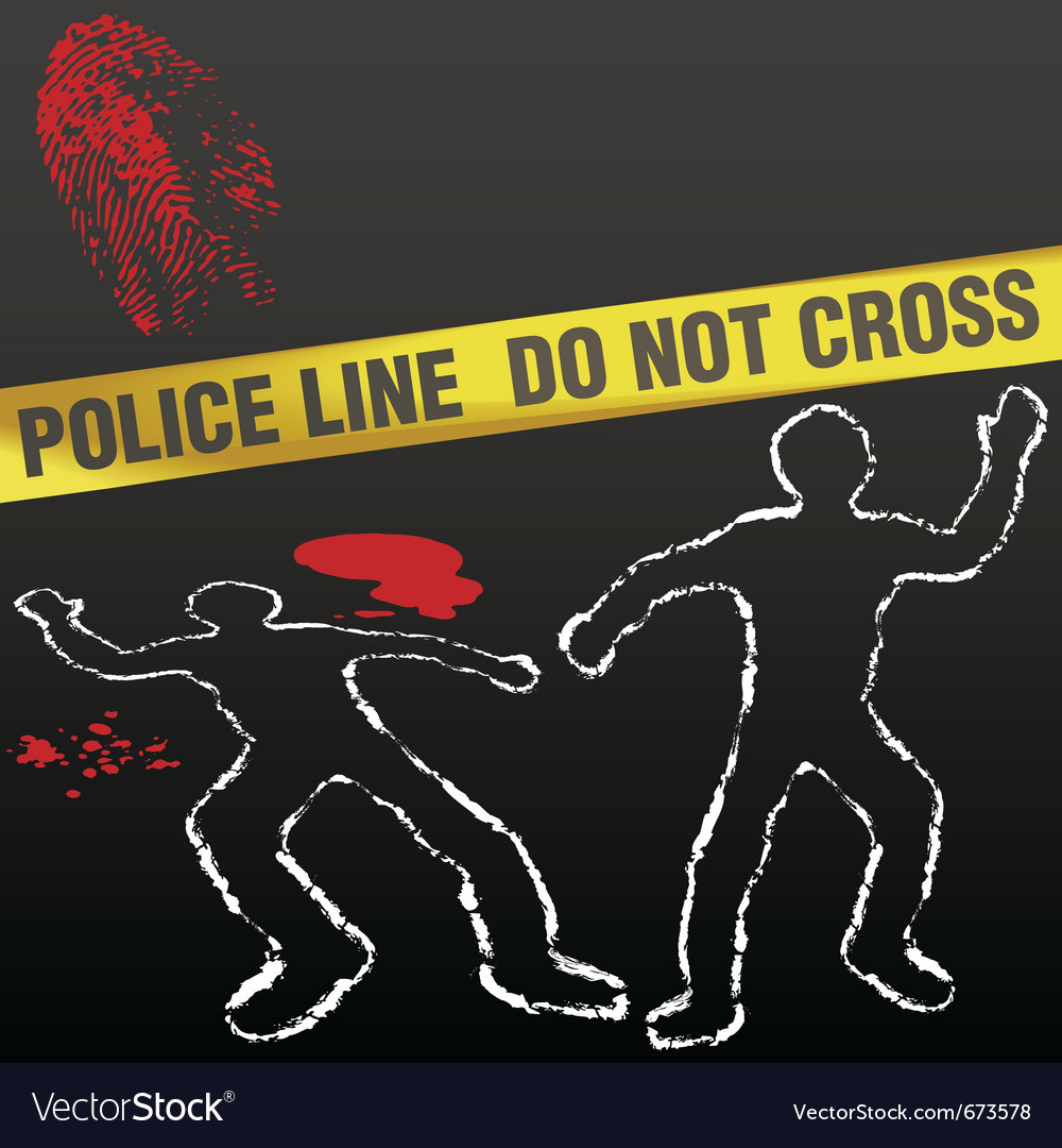 Crime scene with police tape vector | Price: 1 Credit (USD $1)