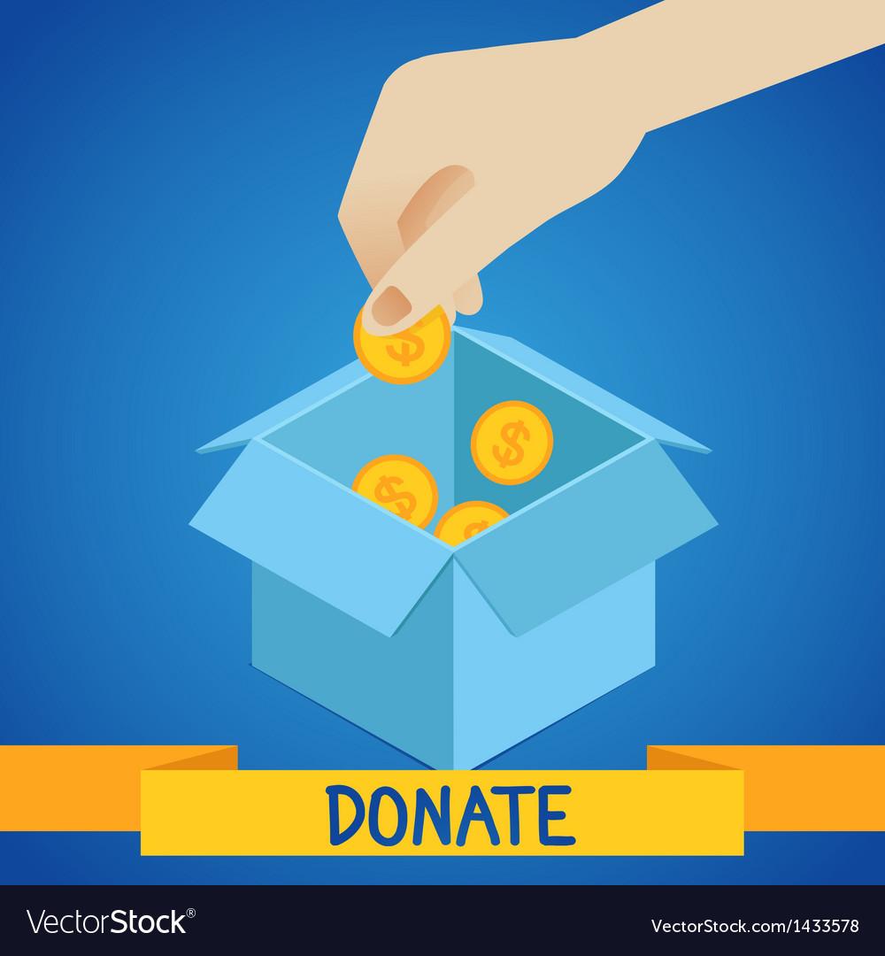 Donate concept vector   Price: 1 Credit (USD $1)