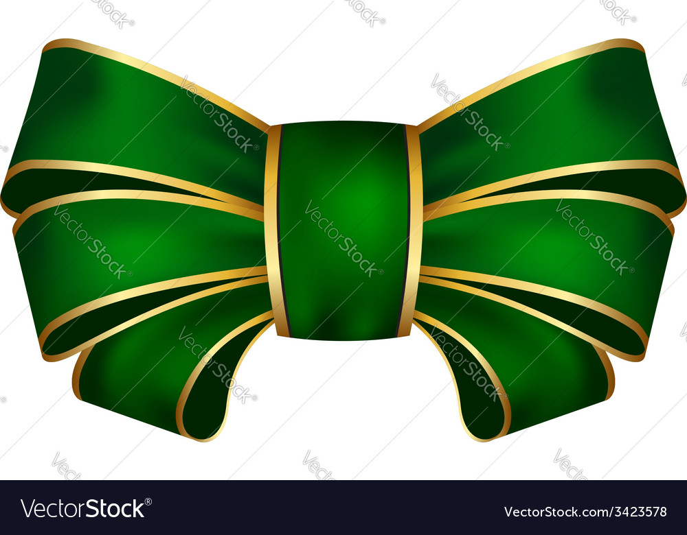 Green bow vector   Price: 1 Credit (USD $1)