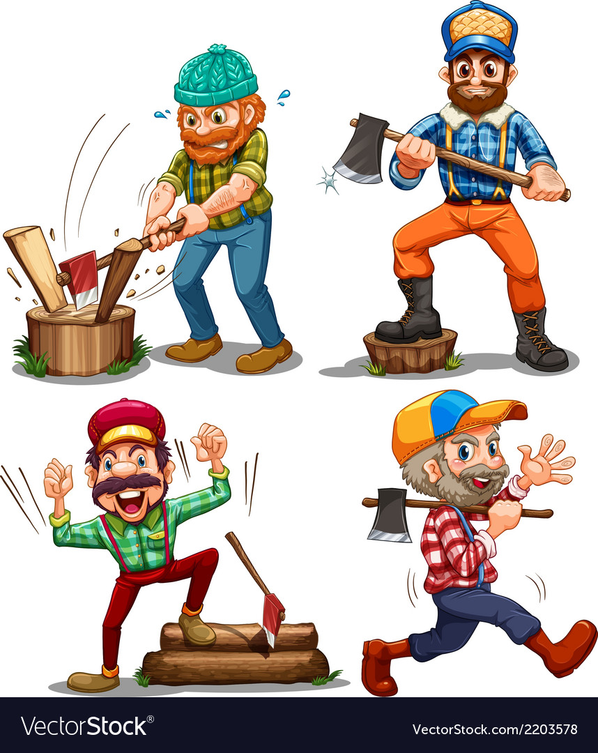 Hardworking woodmen vector | Price: 3 Credit (USD $3)
