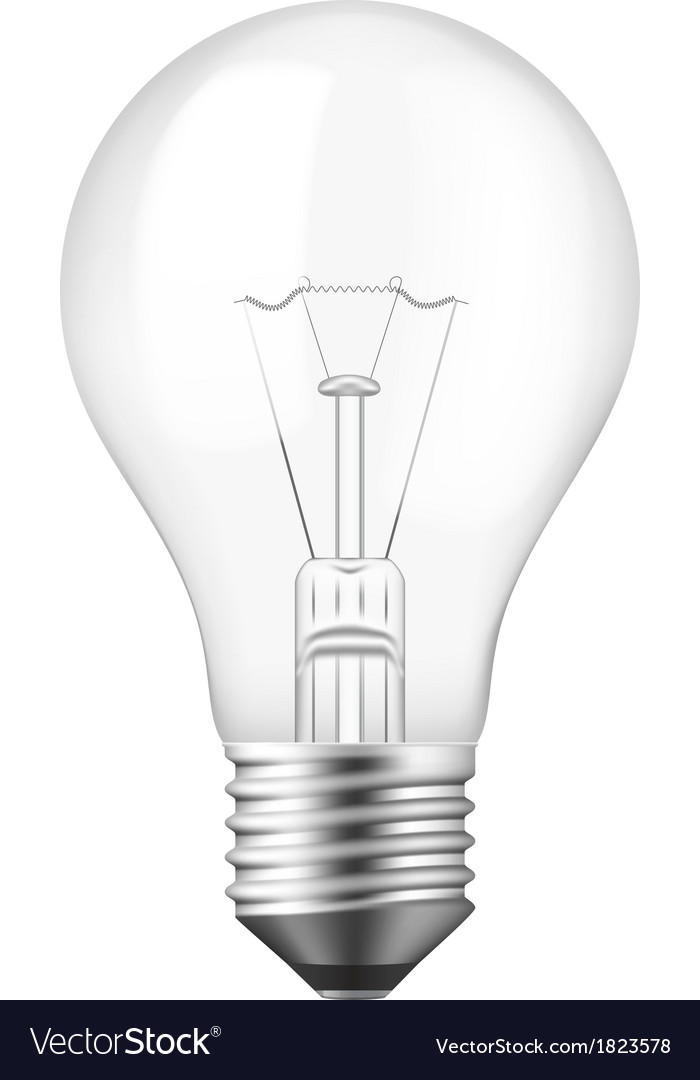 Isolated realistic light bulb vector | Price: 1 Credit (USD $1)