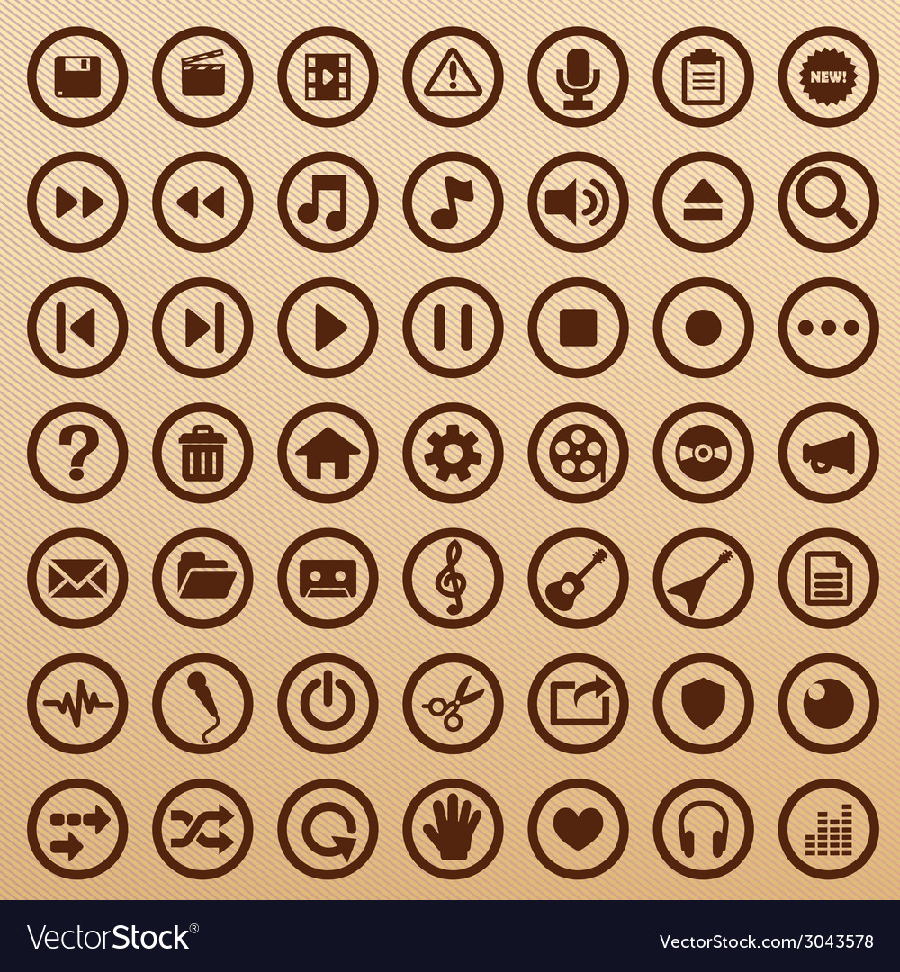 Multimediaappsymbols vector | Price: 1 Credit (USD $1)