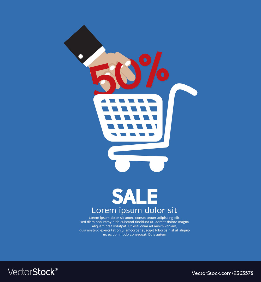 Sale 50 concept vector | Price: 1 Credit (USD $1)