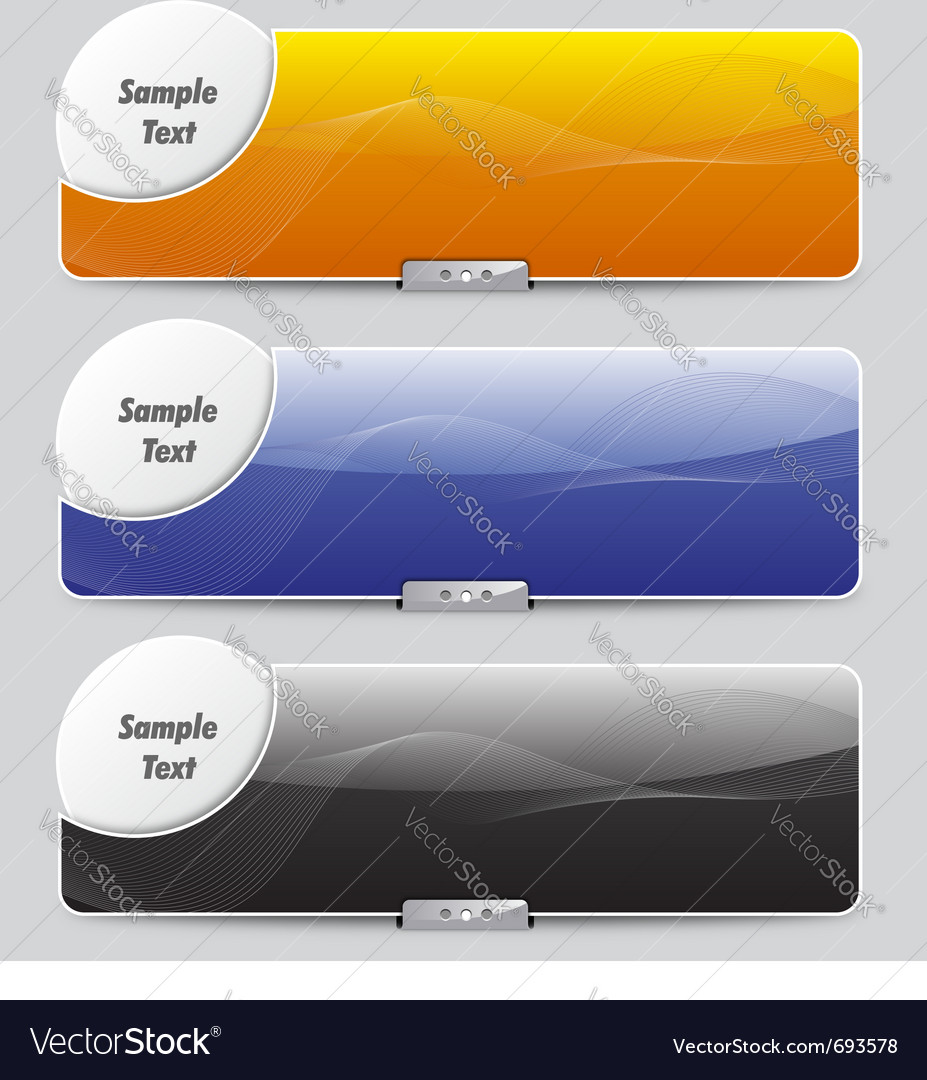 Sliders or banners vector | Price: 1 Credit (USD $1)