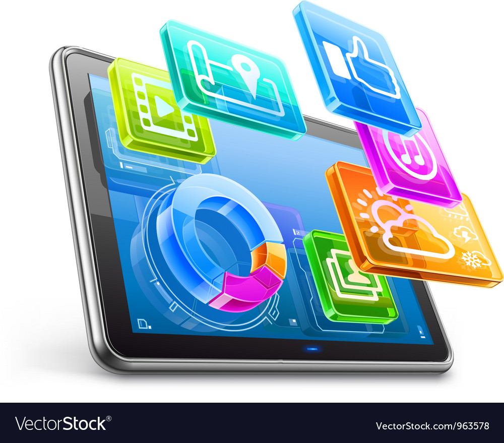 Tablet pc vector | Price: 5 Credit (USD $5)