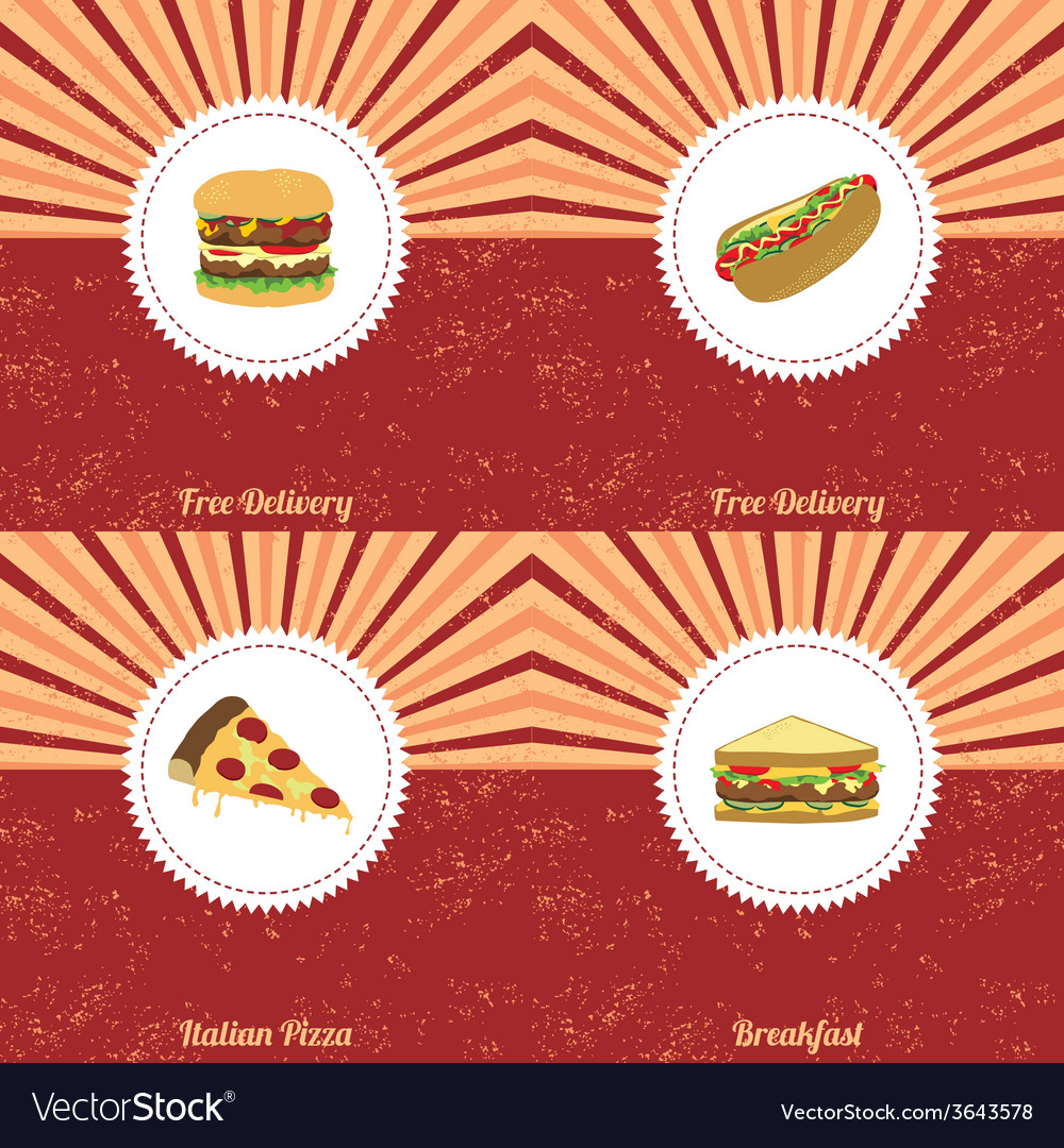 Vintage food theme vector | Price: 1 Credit (USD $1)