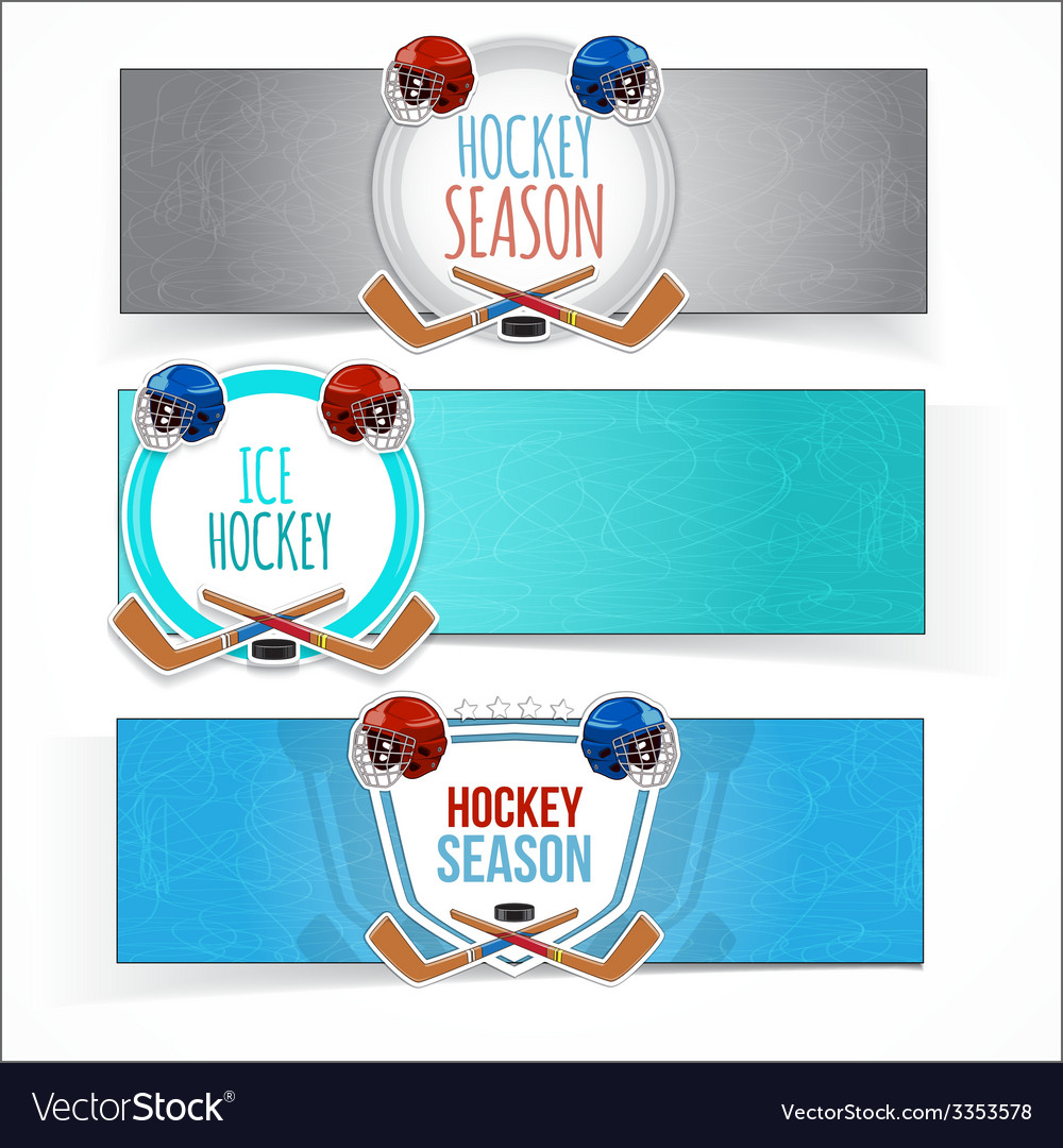 Winter sports hockey banners vector | Price: 1 Credit (USD $1)