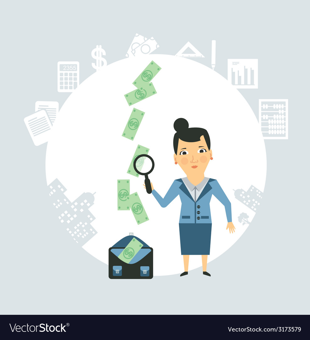 Accountant steals money vector | Price: 1 Credit (USD $1)