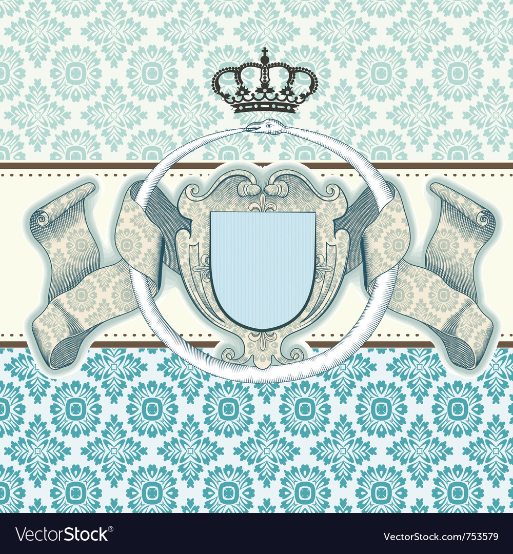 Card baroque vector | Price: 1 Credit (USD $1)