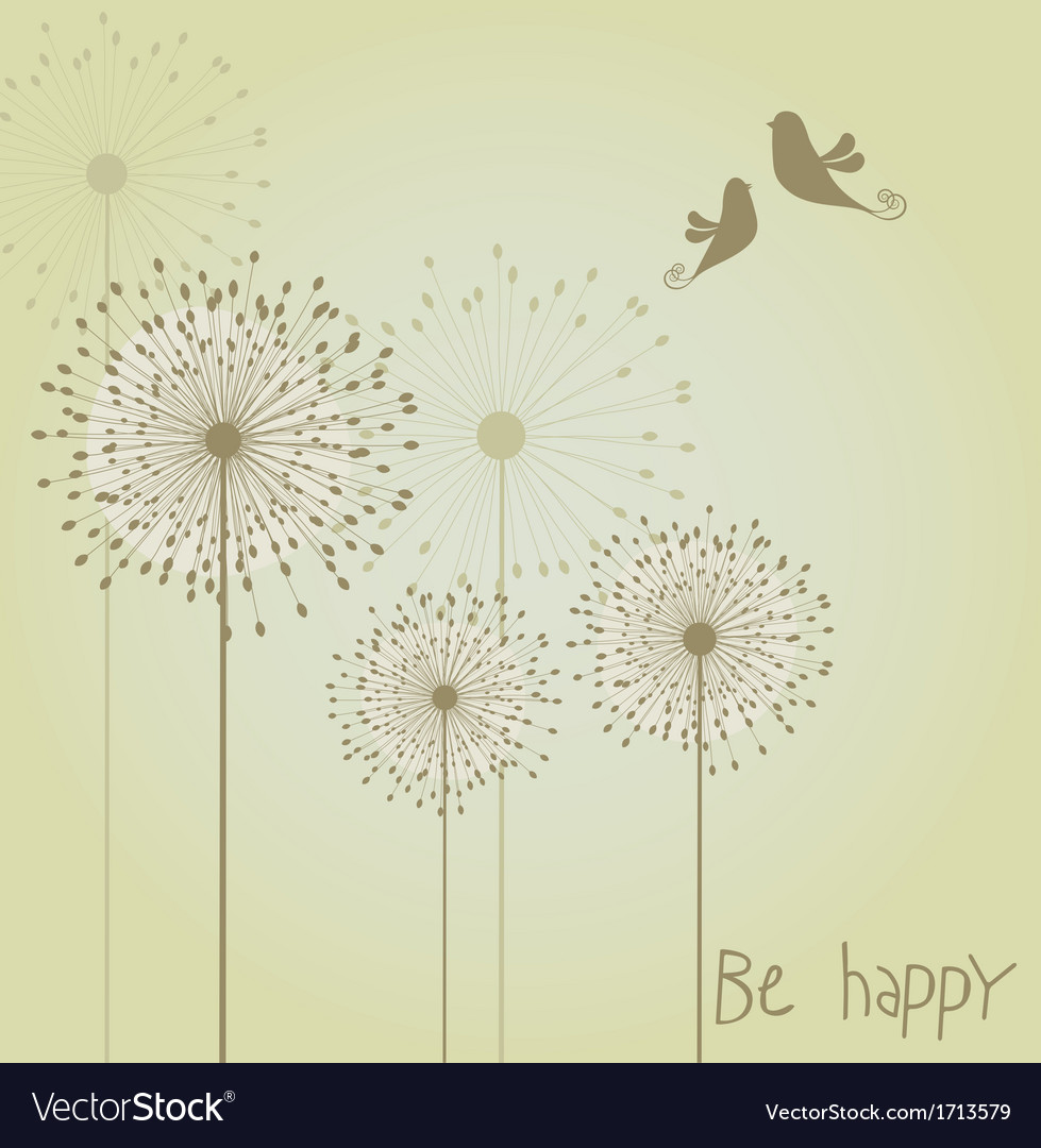 Dandelion background vector | Price: 1 Credit (USD $1)