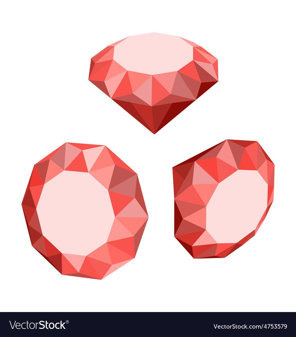 Flat icon of set diamond three-dimensional design vector   Price: 1 Credit (USD $1)