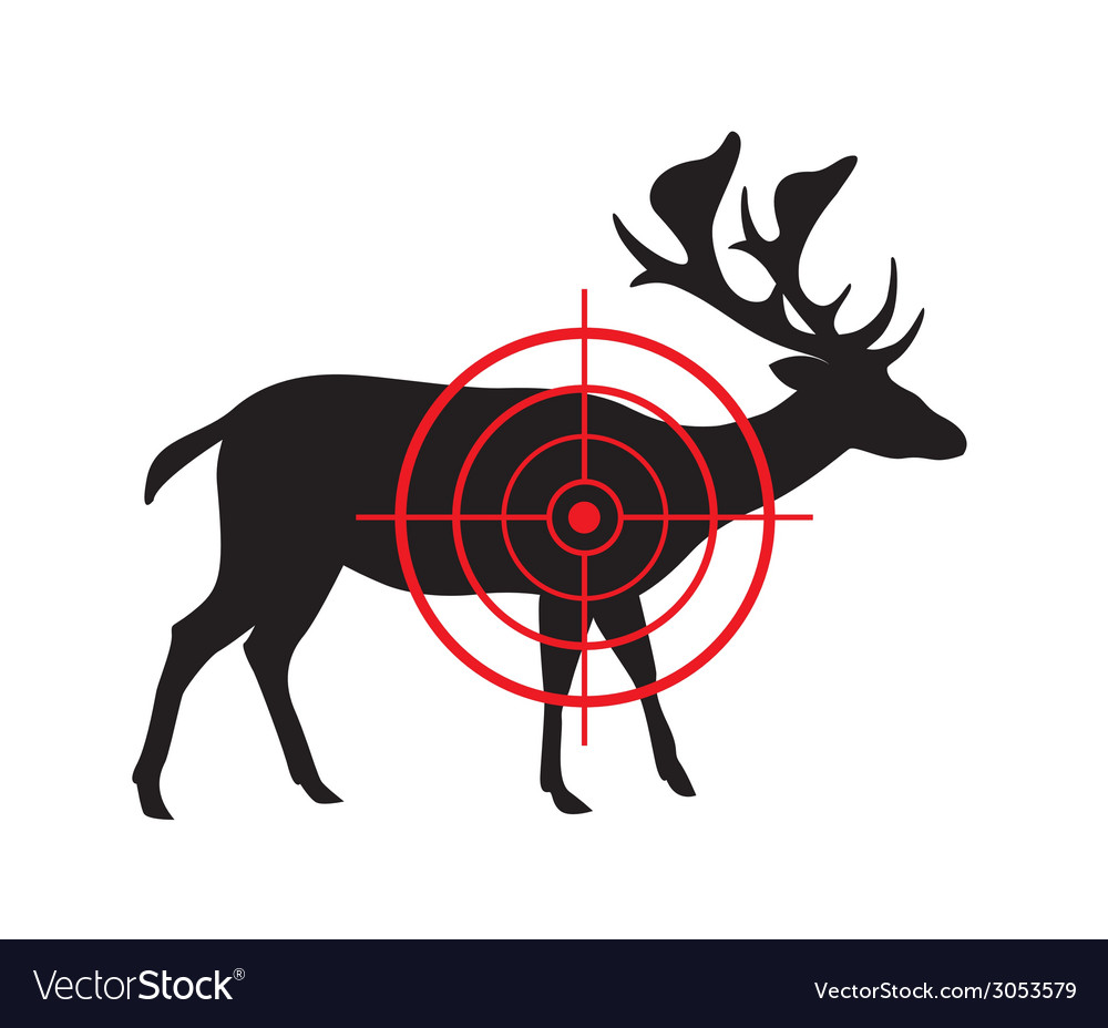 Image of a deer target vector | Price: 1 Credit (USD $1)