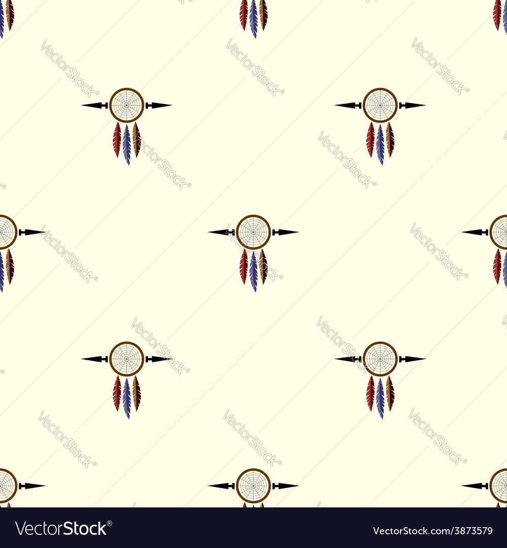 Pastel colored dream catchers seamless vector | Price: 1 Credit (USD $1)