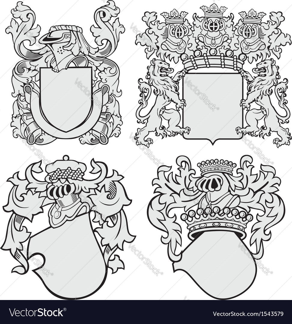 Set of aristocratic emblems no11 vector | Price: 1 Credit (USD $1)