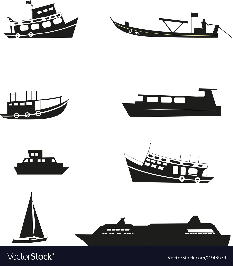 Set of boats vector | Price: 1 Credit (USD $1)