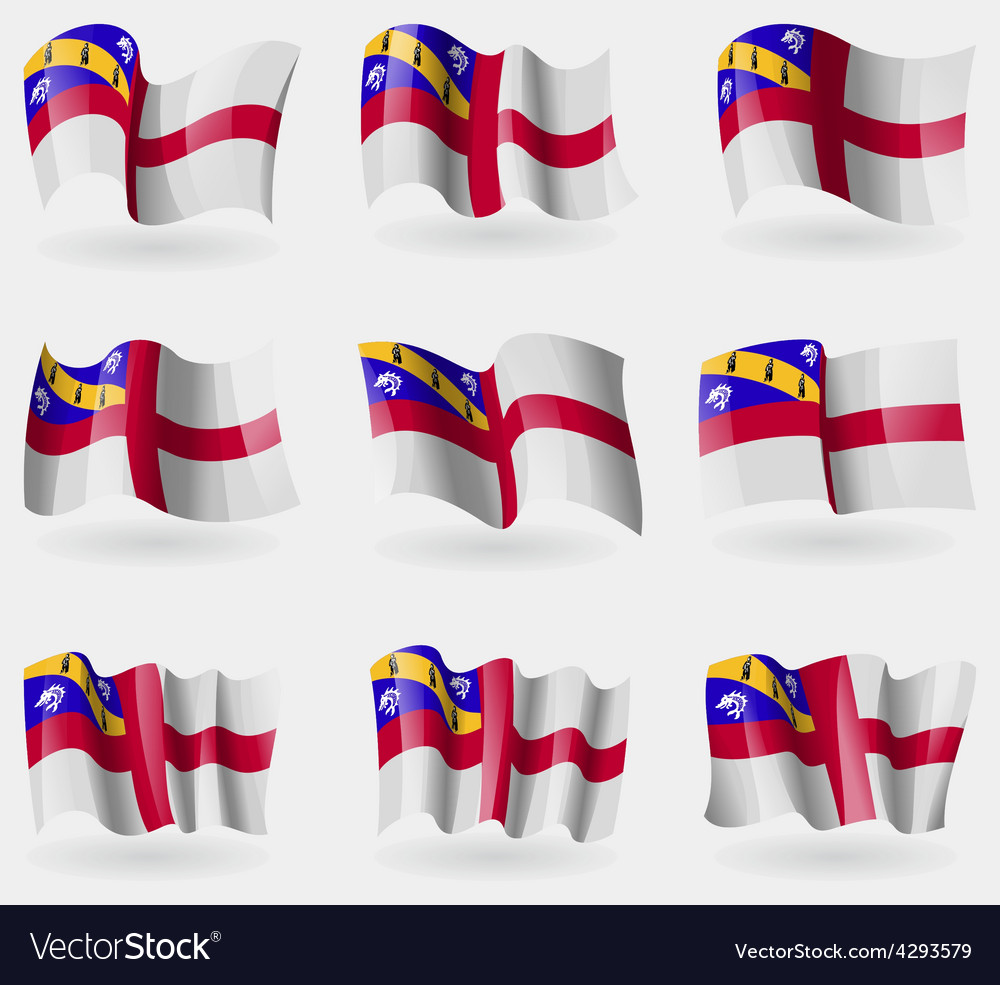 Set of herm flags in the air vector | Price: 1 Credit (USD $1)