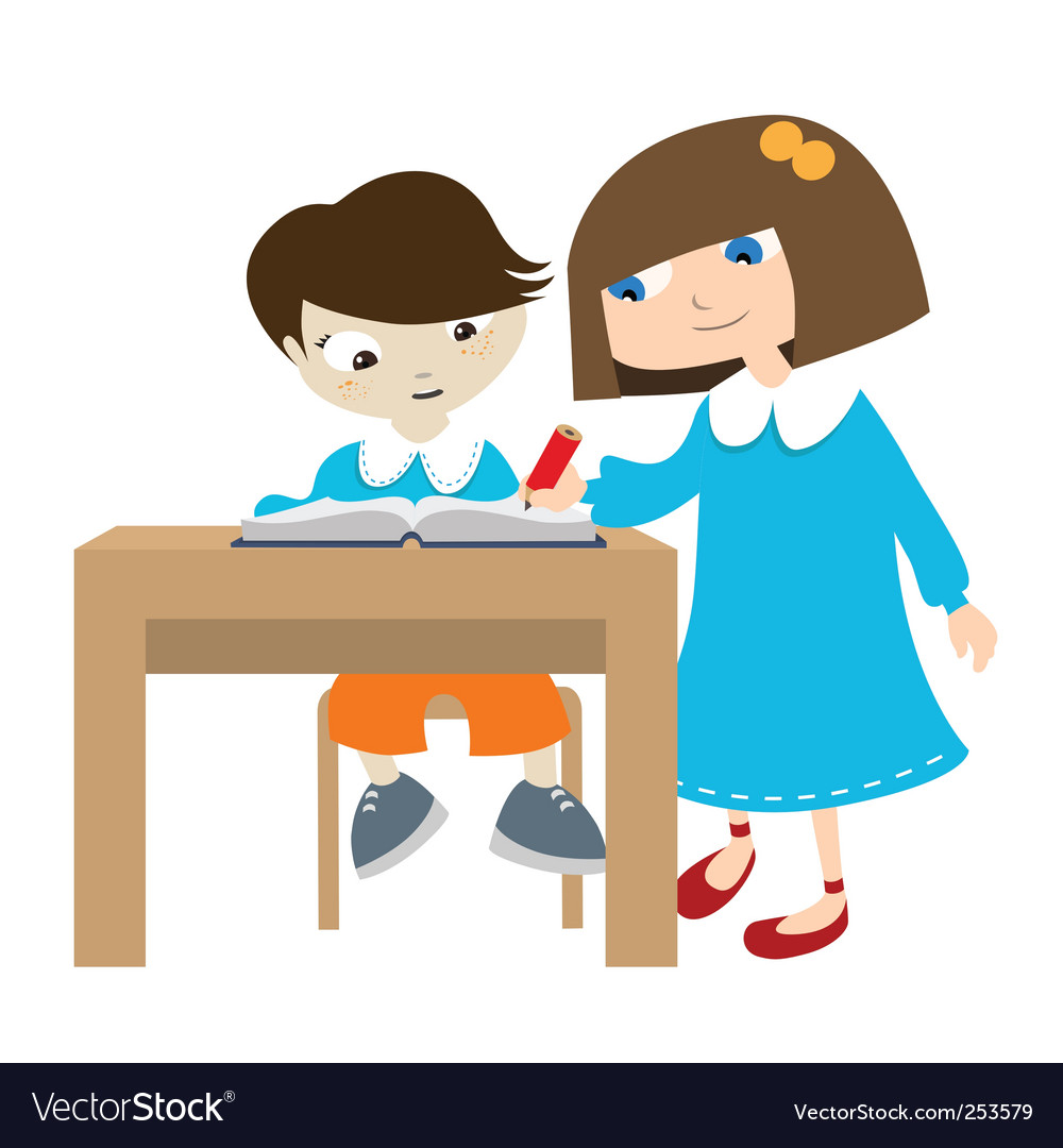Studying students vector | Price: 1 Credit (USD $1)