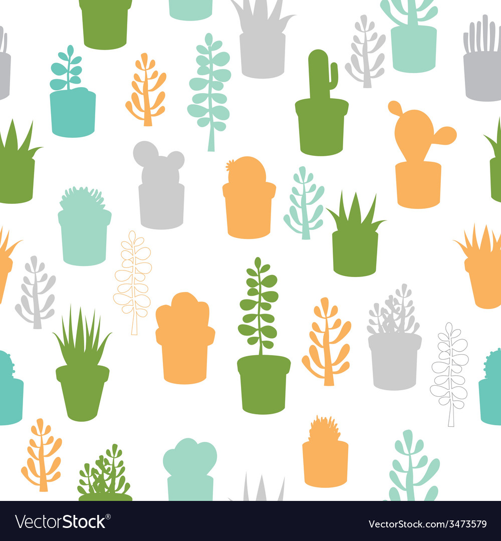 Succulent seamless pattern vector | Price: 1 Credit (USD $1)