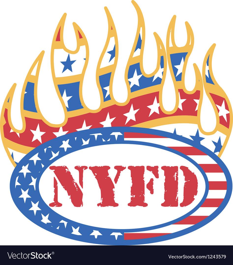 Vintage patriotic american logos vector | Price: 1 Credit (USD $1)