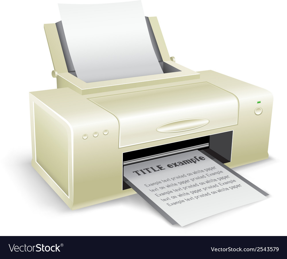 White printer vector | Price: 1 Credit (USD $1)