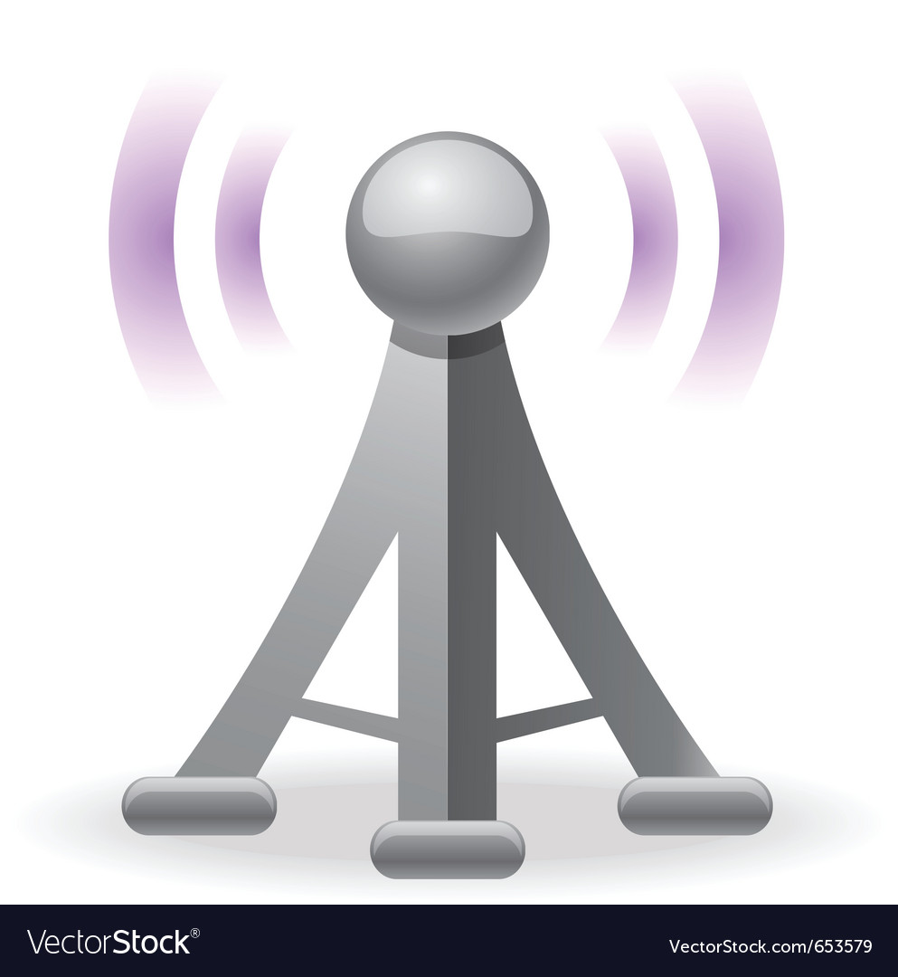 Wireless tower icon vector | Price: 1 Credit (USD $1)
