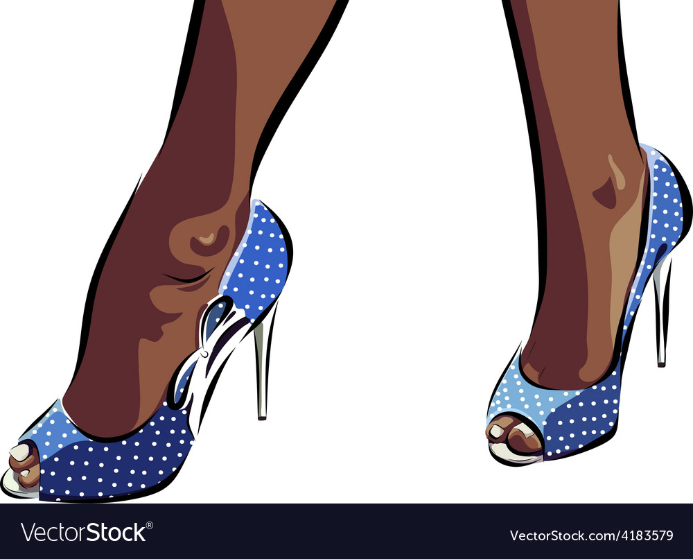 With legs of woman in fashion summer vector | Price: 1 Credit (USD $1)