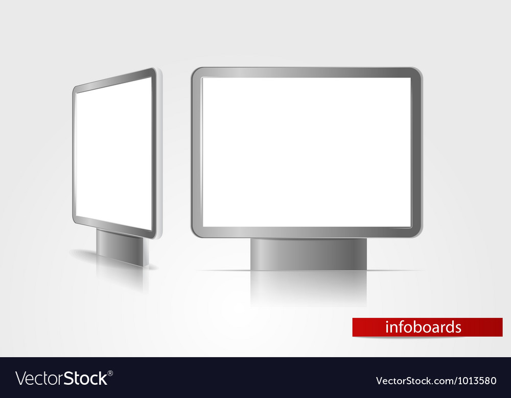 Advertising boards vector | Price: 1 Credit (USD $1)