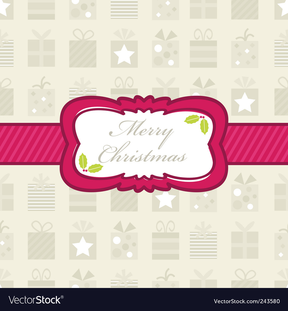 Christmas gift wrapping vector | Price: 1 Credit (USD $1)