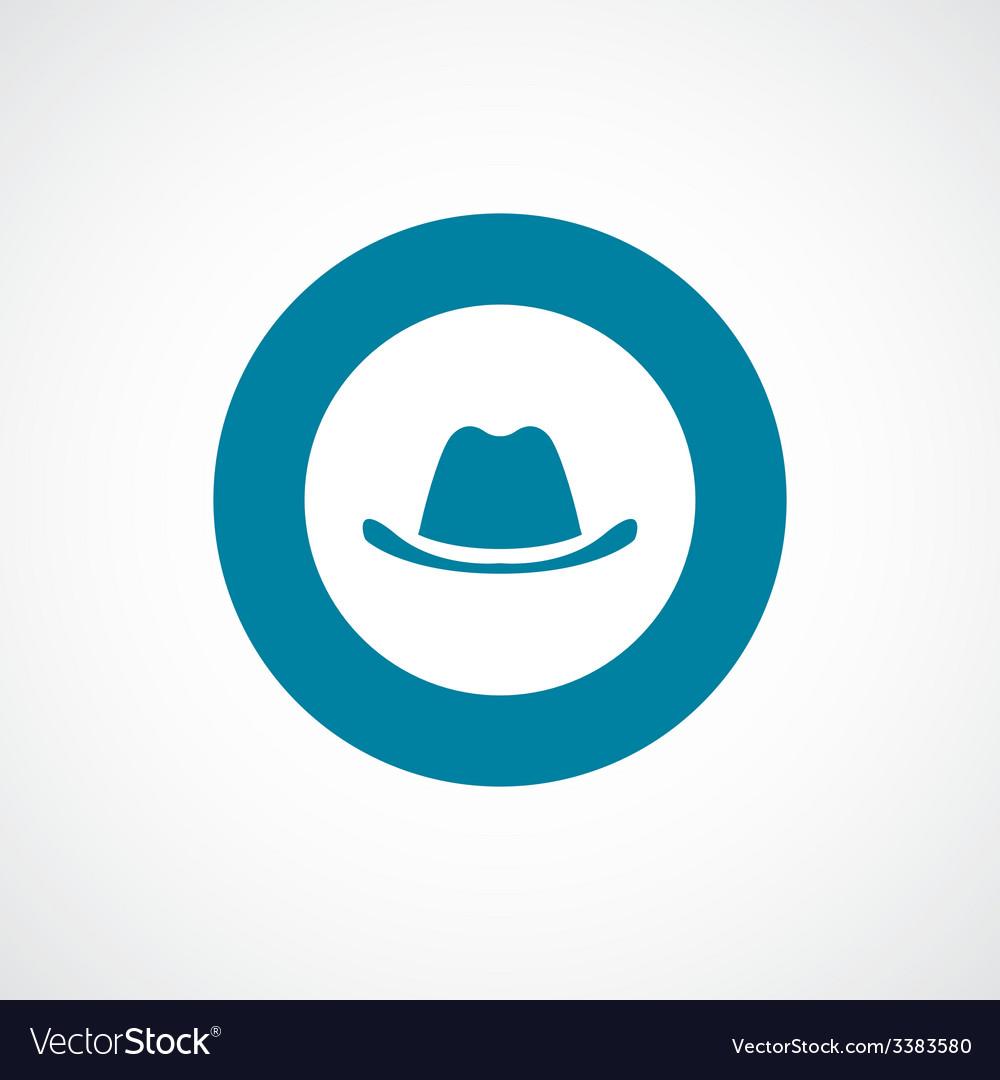 Classic hat bold blue border circle icon vector | Price: 1 Credit (USD $1)