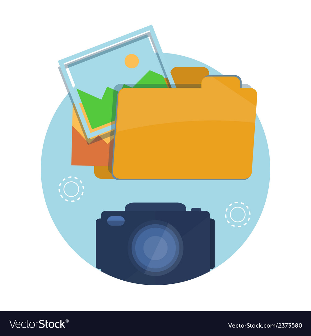 Icon of folder with pictures vector | Price: 1 Credit (USD $1)