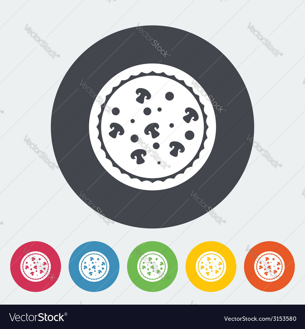 Pizza icon vector | Price: 1 Credit (USD $1)