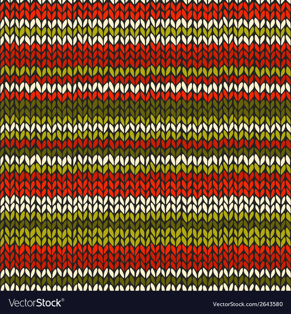 Seamless pattern with knitted stripes vector   Price: 1 Credit (USD $1)