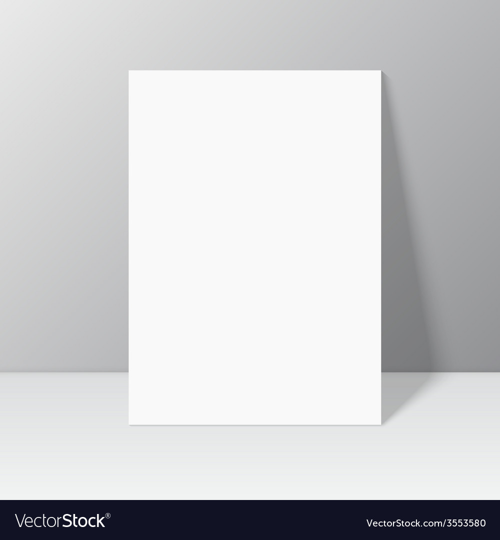 White blank stationary near the wall with shadow vector | Price: 1 Credit (USD $1)