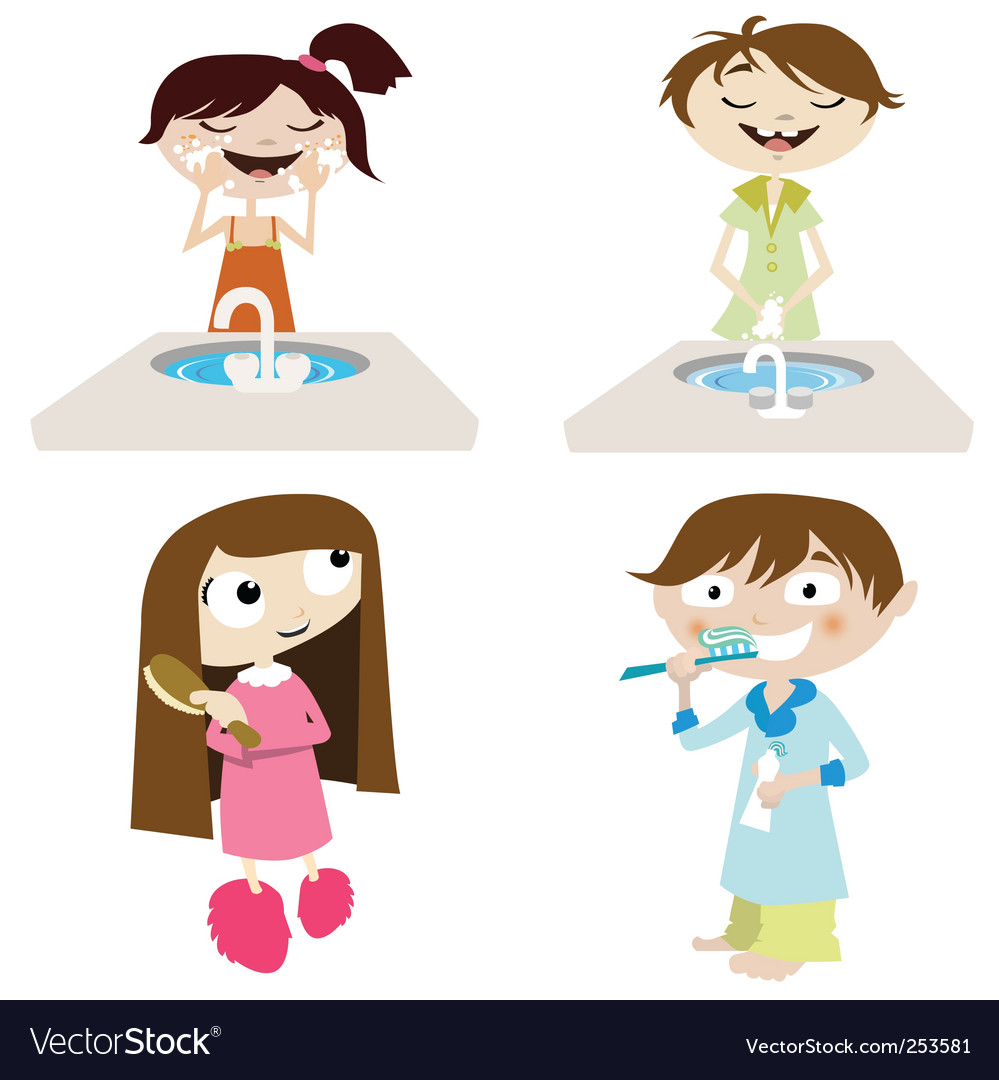 Cartoon girl and boy vector | Price: 1 Credit (USD $1)