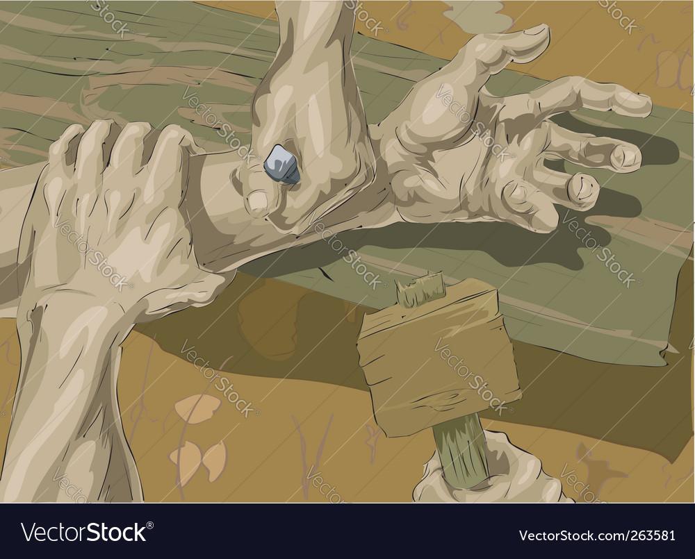 Crucifixion illustration vector | Price: 1 Credit (USD $1)
