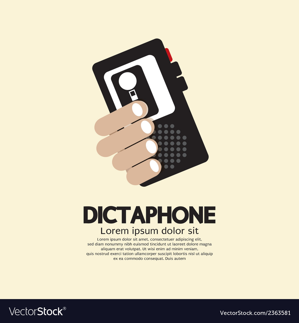 Dictaphone vector | Price: 1 Credit (USD $1)