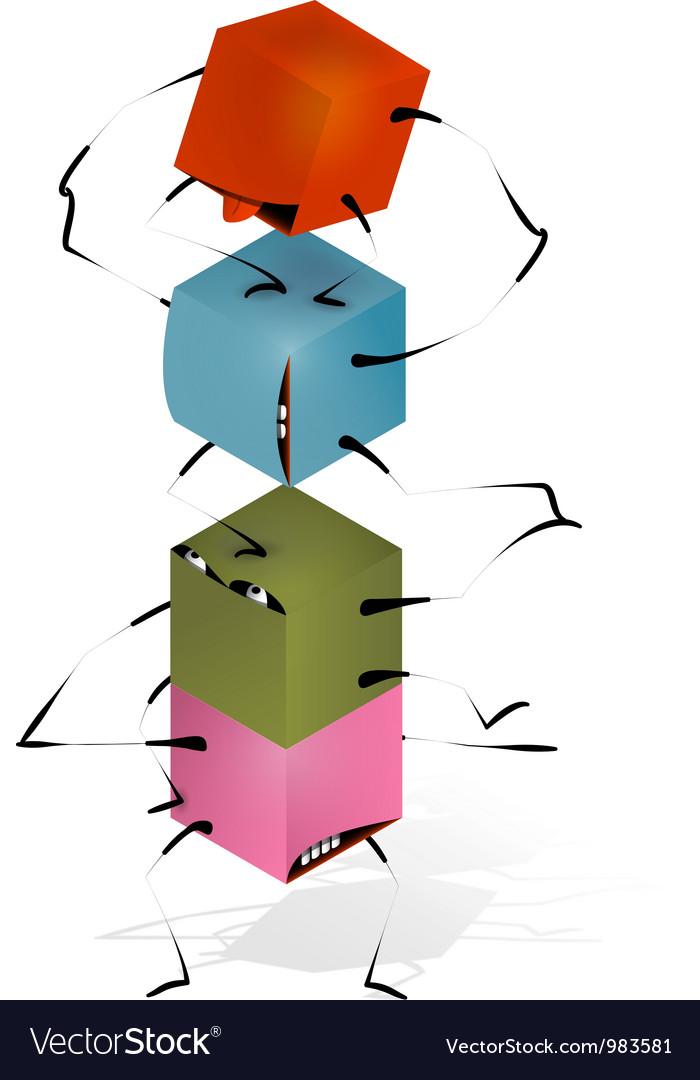 Funny toy blocks pyramid vector | Price: 1 Credit (USD $1)