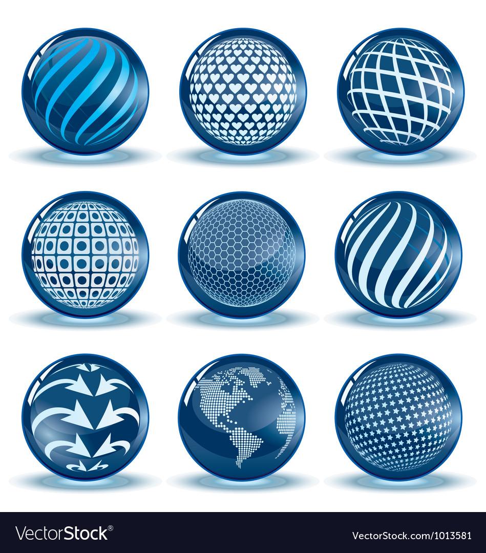 Glossy spheres set vector | Price: 1 Credit (USD $1)