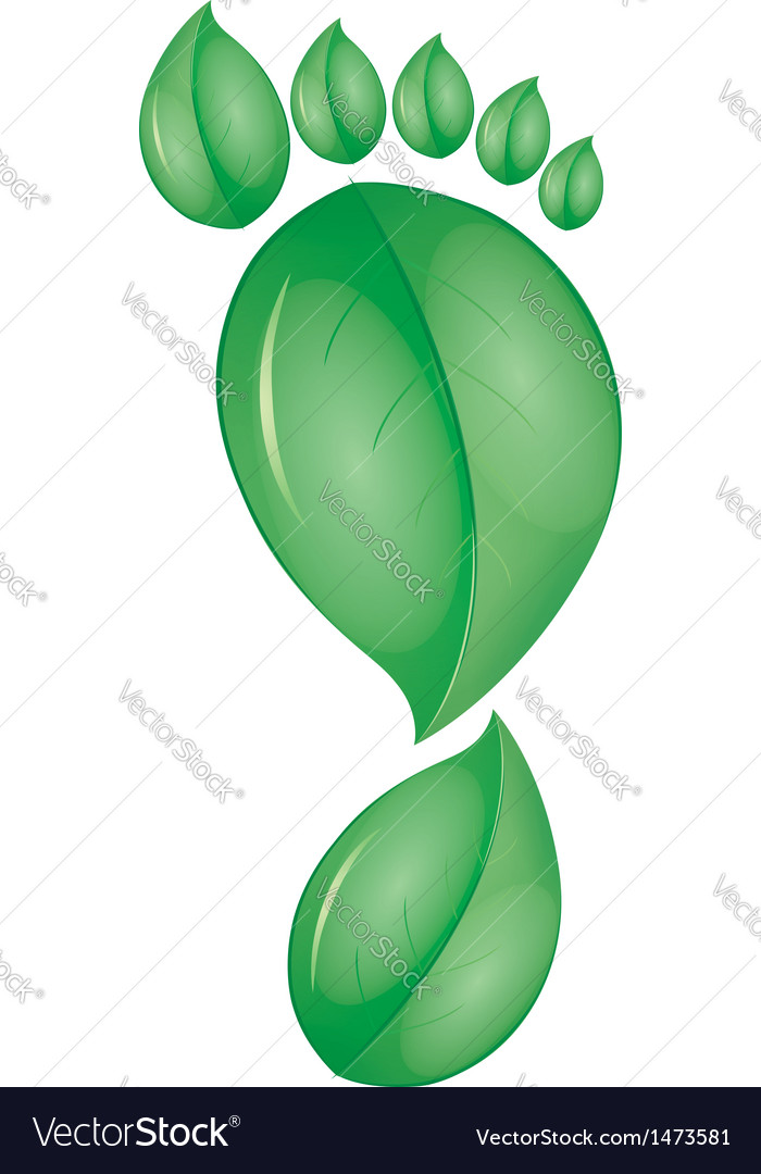 Green foot vector | Price: 1 Credit (USD $1)