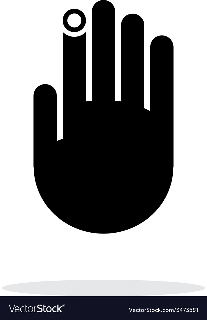 Hand finger id icon on white background vector | Price: 1 Credit (USD $1)