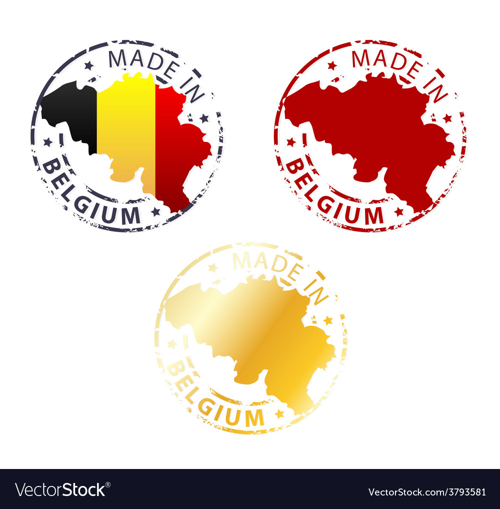 Made in belgium stamp vector | Price: 1 Credit (USD $1)