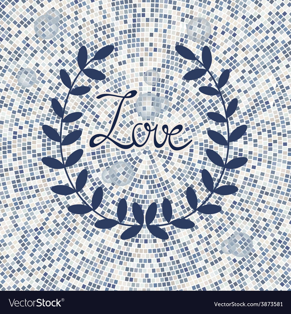 Stylish love card vector | Price: 1 Credit (USD $1)